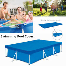 4 Size Rectangle Swimming Pool Cover for Garden Outdoor Paddling Family Tu8