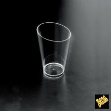 PS06 Plastic Disposable Finger Food Tall Conical Liqueur Glass Transparent 25pc