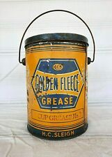 HARD TO FIND GOLDEN FLEECE 10 POUND GREASE TIN OIL CAN