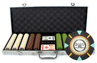 NEW 500 PC The Mint 13.5 Gram Clay Poker Chips Set Aluminum Case Pick Your Chips