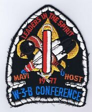 Activity Patch W-3-B Conference 1977 BLK/WHT Brd BLK Bkg YEL FDL 400909
