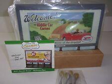 Hallmark Kiddie Car Corner Collection Bill's Boards Series WELCOME SIGN NIB