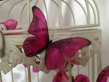 Butterfly Wedding Decorations 10 Sparkling Dark Pink  Table Candle Accessories