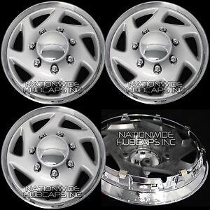 "Set of 4 FORD E150 Econoline VAN 15"" Hub Caps 5 Lug Wheel Rim Covers Center Hubs"