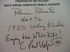 Robin Roberts Signed Whiz Kids Hardcover Book AUTO PSA / DNA COA Phillies HOF