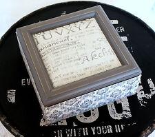 Jewellery Box Wooden Grey Keepsake Trinket Box Jewelry Soft Cushion Material Lid