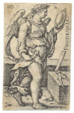 Hans Sebald Beham . Prudencia 1539 Kupferstich Pauli 132 Nürnberg Engraving