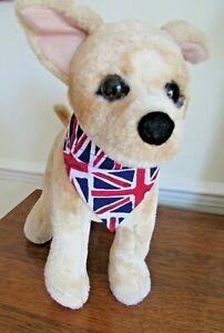 Handmade  Funky Union Jack Dog or Cat Bandanna slide collar through Top XS - XL
