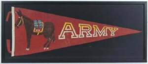 Spectacular Vintage Army West Point Military Pennant in Shadow Box Display Case