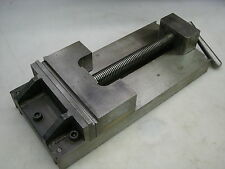 "Precision Ground 8"" Machine Vise - Smooth Step - Serrated Jaw Faces"