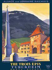 Haute - Alsace Lorraine France French Vintage Travel Advertisement Art Poster