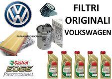 KIT TAGLIANDO FILTRI ORIGINALI + OLIO CASTROL 5W30 VW POLO (6R) 1.6 TDI DAL 2009