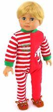 "Santa's Helper Christmas Sleeper Pajamas fits 18"" American Girl Doll Clothes"
