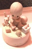 """Precious Moments """"Heaven Bless You"""" Musical Figurine"""