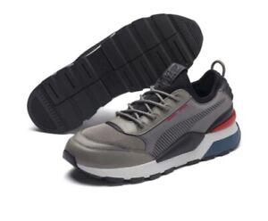 [369362-01] Men's Size 12 Puma RS-0 Tracks Grey/Black/Red BRAND NEW