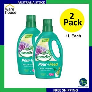2 X Scotts Osmocote 1L Pour+Feed Cacti & Succulents Free Shipping