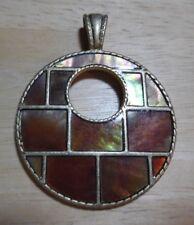 Lia Sophia Gold Round Jewelry Slide w/Brown Stone, Excellent