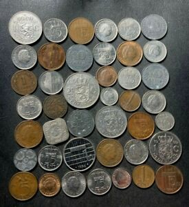 Old Netherlands Coin Lot - 1878-PreEuro - 41 Great Coins - Nice Group - Lot #L23