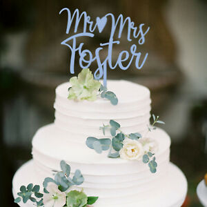 Mr and Mrs Cake Topper Personalized Wedding Cake Topper