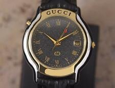 Gucci 8200M Gold Plated and Stainless Steel Men's Quartz Dress Watch YY16