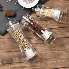 """4"""" 5"""" 6"""" Acrylic Salt Pepper Grinder Spice Mill Clear Kitchen Cooking Tools"""