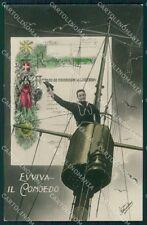 Militari WWI Propaganda Marina Congedo Foto cartolina XF0398