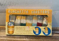 NIB Vintage Mid-Century 8 Jackette Covers Coasters Koozie Retro Can Bottles