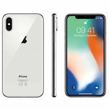 Téléphones mobiles argentés Apple iPhone X, 64 Go