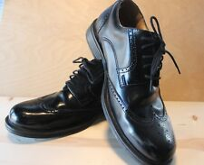 Croft & Barrow Wing Tip Black Leather Bowman Shoes Men's 9.5 Wide