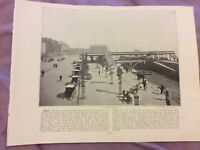 Antique Book Print - Hull OR Kingstown - UK - c. 1895