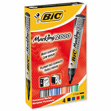 Bic Marking 2000 Permanent Marker Bullet Tip Black, Blue, Red Green Assorted