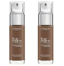 2 x LOREAL 30mL TRUE MATCH FOUNDATION 10N CACAO 100% Brand New