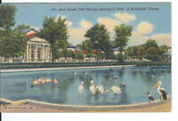 CE-317 IL, Brookfield Bird House Chicago Zoological Park Linen Postcard Illinois