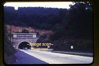 Cars at Kittatinny Tunnel on Pennsylvania Turnpike in 1950s, Original Slide g13a
