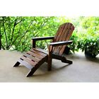 International Caravan Outdoor Adirondack Chair with Footrest, Brown