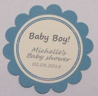 "Baby shower gift tag's ""It's a boy"", Blue/white. Pack-20,50,100"
