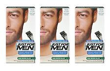 Just For Men Brush In Colour Moustache Beard DARK BROWN BLACK Facial Dye M45 X3