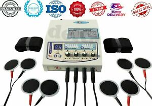 Delta Brand 04 channel electrotherapy Stress Free Physiotherapy with Carbon pads