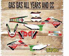 Gas gas ec 125 250 450 98-2016 Kit completo de gráficos Kit de Pegatinas - - Calcomanías-gasolina GAS-MX9
