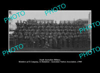 OLD POSTCARD SIZE PHOTO OF SOUTH AUSTRALIA MILITARY NATIVES 1st BATTALION c1900