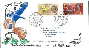 First Day Cover FDC 1963 Nature Week Special Commemorative Issue