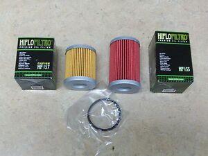 New HiFloFiltro Oil Filter Set Long + Short Filters For KTM 250 400 450 525 540