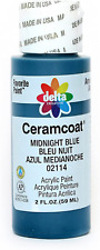 Delta Creative Ceramcoat Acrylic Paint In Assorted Colors (2 Oz), 2114, Midnight