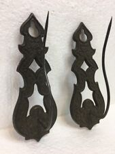 Antique Vintage Cast Metal Spiked Needle Pair Of Candle Holder Wall Sconce