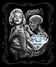 Marilyn Monroe Diamonds are Forever Luxury Queen Size Plush Blanket 79x95 Inches