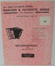 MARCHES & PATRIOTIC SONGS for ACCORDION Easy Arrangements Sheet Music Book