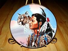"""""""Spirit Leader"""" AMERICAN INDIAN Cat The Franklin Mint Heirloom Collection Plate"""