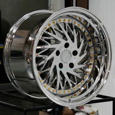 4-Directional Aodhan DS03 DS3 Wheels 18x10.5 5x114.3 +15 Vacuum Chrome Rims Set