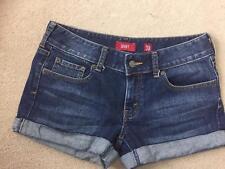 LEVIS Womens Jean Shorts Rolled Hem Blue Denim Size 30
