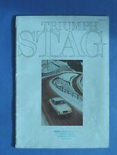 TRIUMPH STAG - CATALOGUE - 1971 - A4 - Anglais